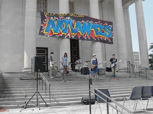 bands play throughout the day at ARTLANTIS [photo courtesy of Clark Brown]